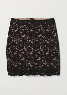 H&M H & M - Lace Skirt - Black