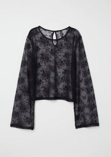 H&M H & M - Lace Top - Black