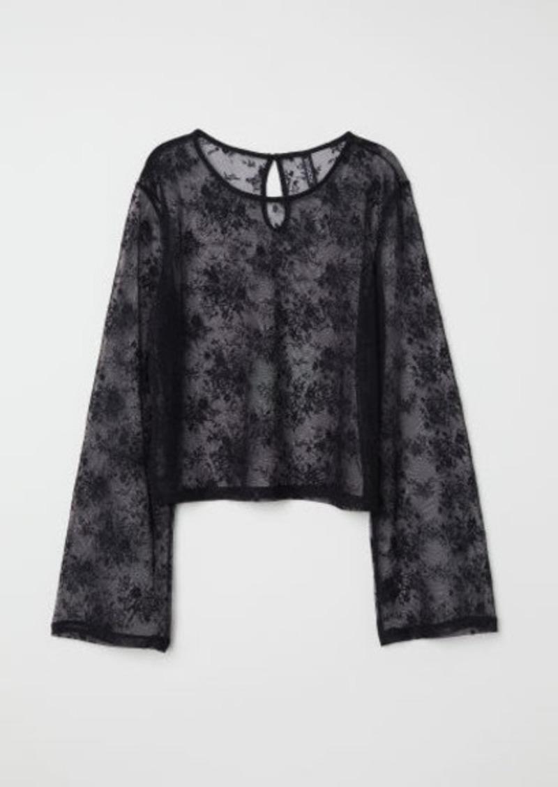 H&M H & M - Lace Top - Black