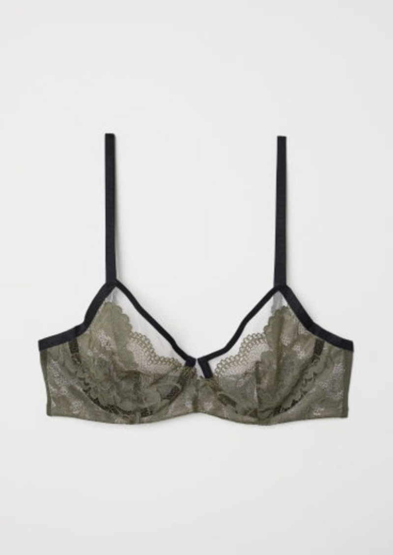 c8141f8df2b7 H M H   M - Lace Underwire Bra - Green Now  9.99