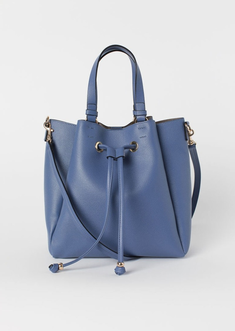 H & M - Large Bucket Bag - Blue
