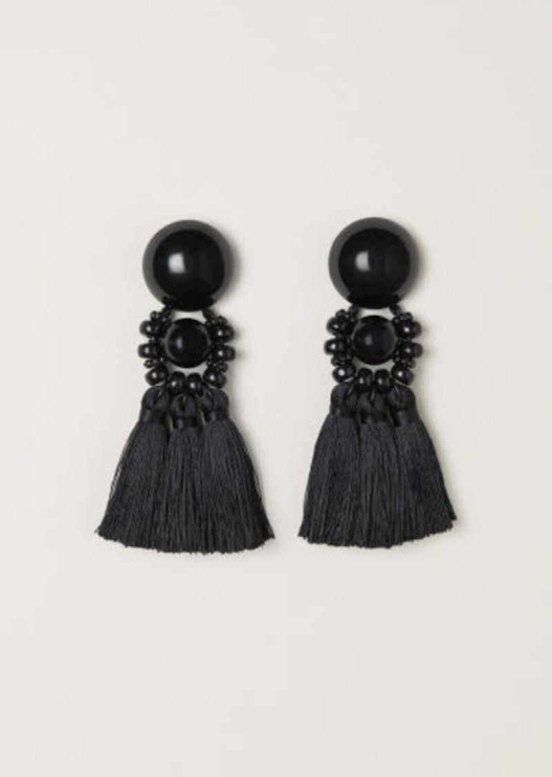 H M Large Earrings Black