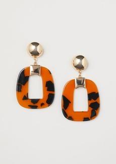 H&M H & M - Large Earrings - Orange