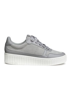 H&M H & M - Leather and Suede Sneakers - Gray