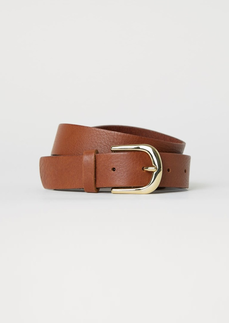 H&M H & M - Leather Belt - Beige