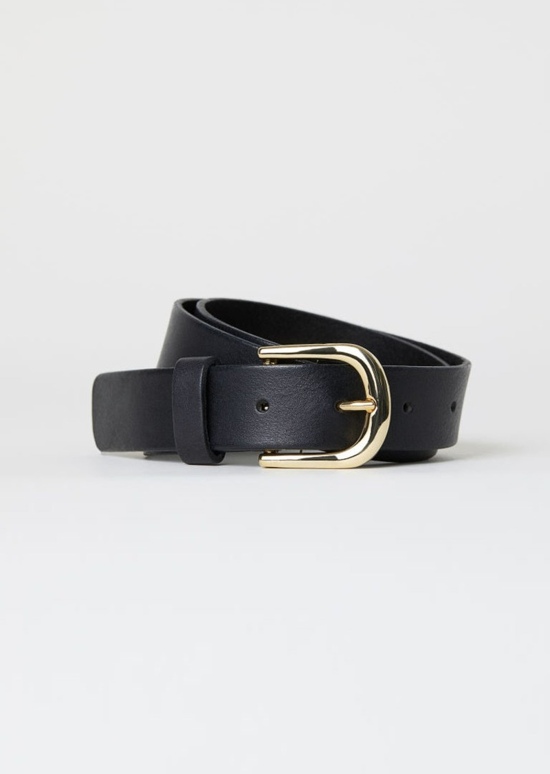 H&M H & M - Leather Belt - Black