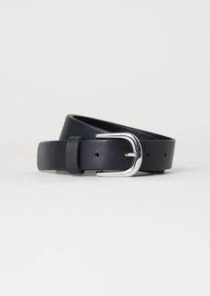 H&M H & M - Leather Belt - Black