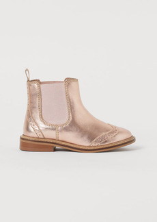 H&M H & M - Leather Boots - Pink