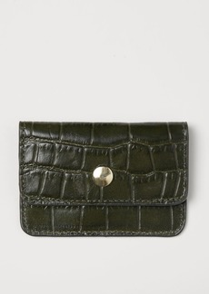 H&M H & M - Leather Card Case - Green