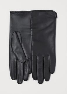 H&M H & M - Leather Gloves - Black