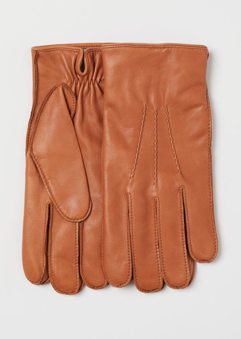 H&M H & M - Leather Gloves - Yellow