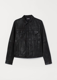 H&M H & M - Leather Jacket - Black