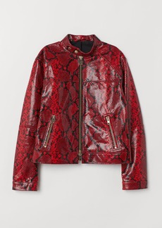 H&M H & M - Leather Jacket - Red