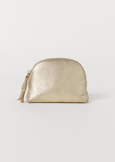 H&M H & M - Leather Makeup Bag - Gold