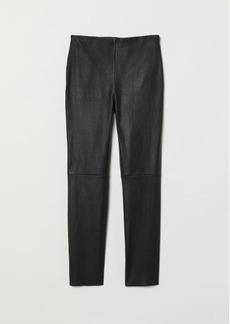 H&M H & M - Leather Pants - Black