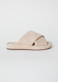 H&M H & M - Leather Sandals - Beige