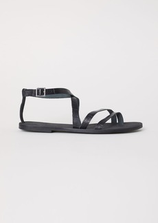 H&M H & M - Leather Sandals - Black