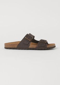 H&M H & M - Leather Sandals - Brown