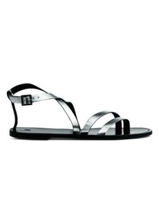 H&M H & M - Leather Sandals - Silver