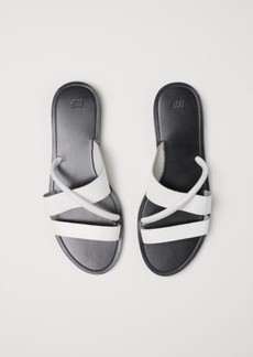H&M H & M - Leather Sandals - White