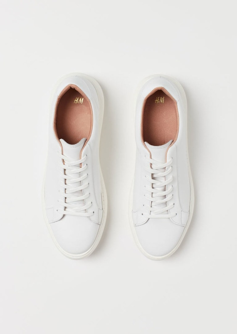 H&M H & M - Leather Sneakers - White
