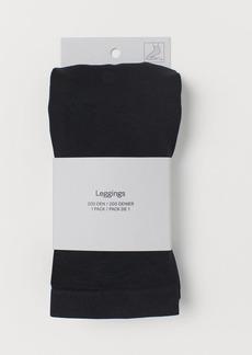 H&M H & M - Leggings 200 Denier - Black