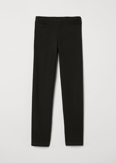 H&M H & M - Leggings with Brushed Inside - Black