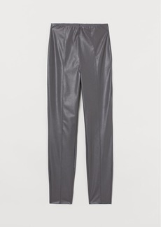 H&M H & M - Leggings with Creases - Gray