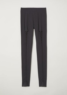 H&M H & M - Leggings with Lacing - Black