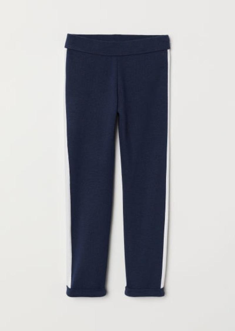 H&M H & M - Leggings with Side Stripes - Blue