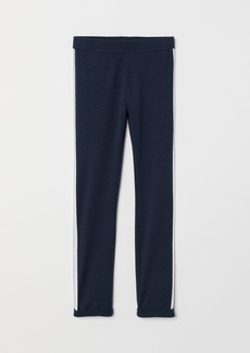 H&M H & M - Leggings with Side Stripes - Blue