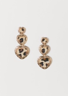 H&M H & M - Leopard-print Earrings - Gold