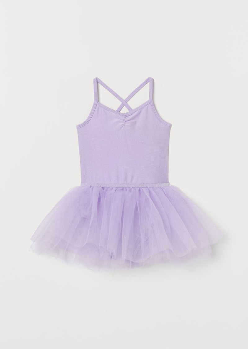 H&M H & M - Leotard with Tulle Skirt - Purple