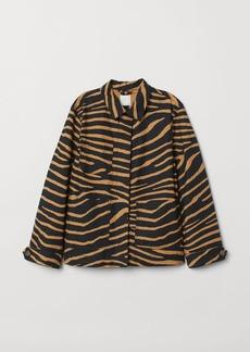 H&M H & M - Lightweight Cotton Jacket - Black
