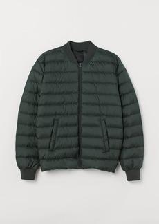 H&M H & M - Lightweight Down Jacket - Green