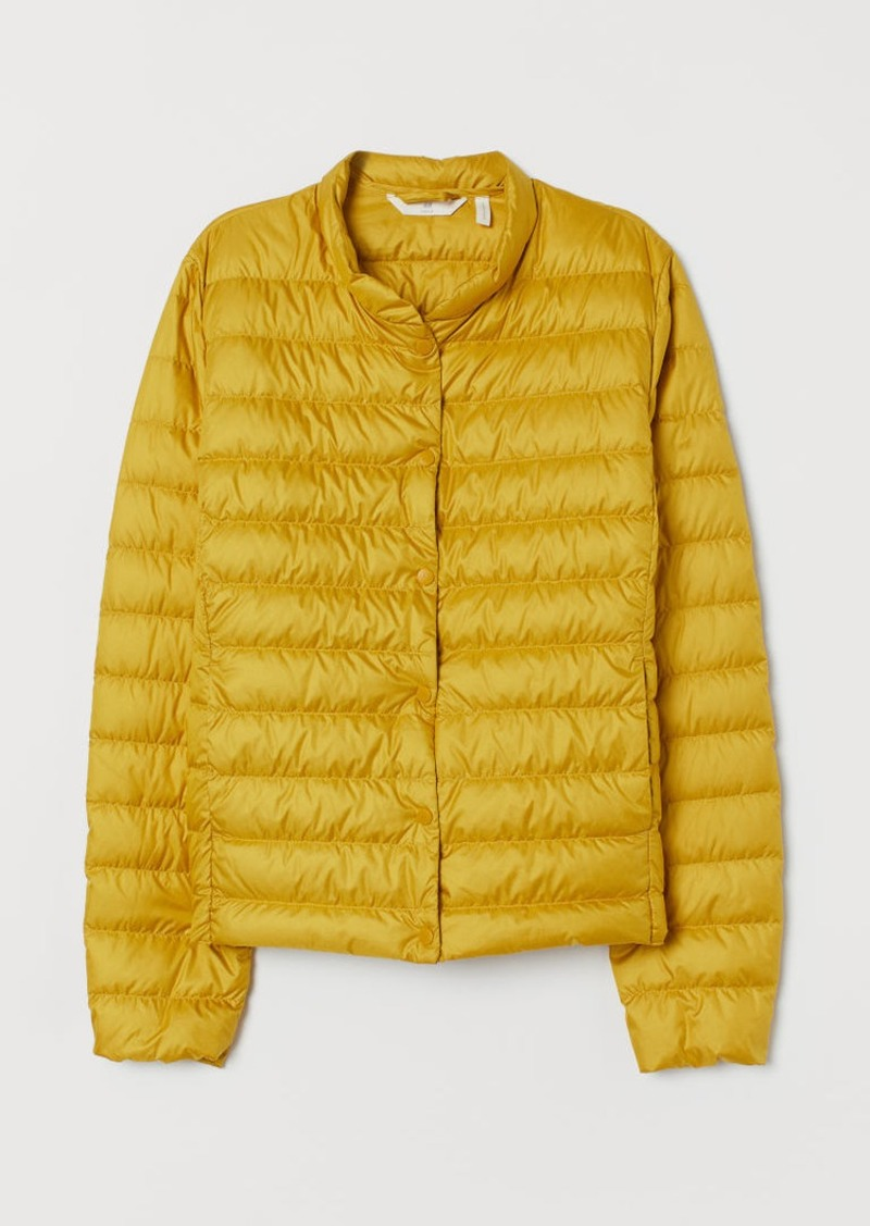 H&M H & M - Lightweight Down Jacket - Yellow