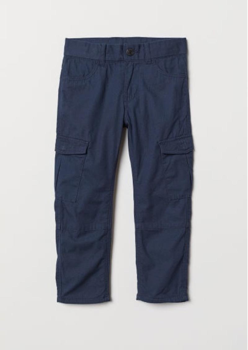 H&M H & M - Lined Cargo Pants - Blue