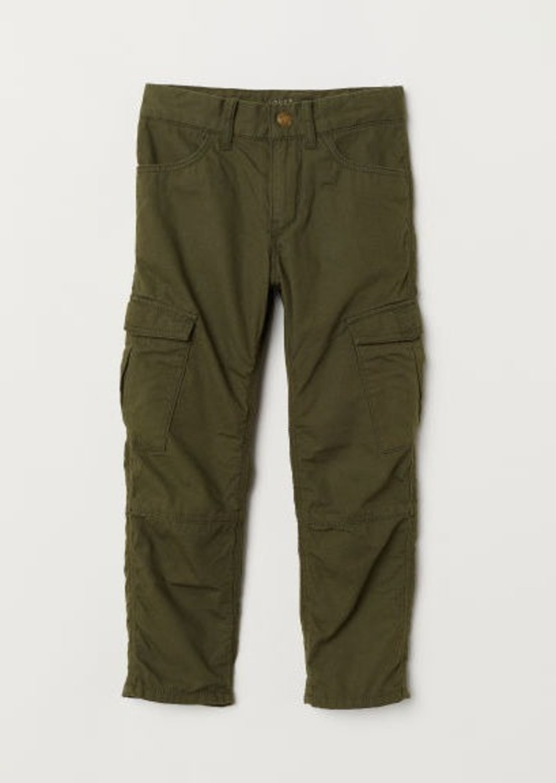 H&M H & M - Lined Cargo Pants - Green