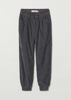 H&M H & M - Lined Corduroy Pants - Gray