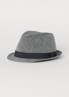 H&M H & M - Linen-blend Hat - Gray