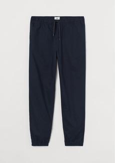 H&M H & M - Linen-blend Joggers - Blue