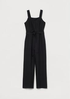 H&M H & M - Linen-blend Jumpsuit - Black