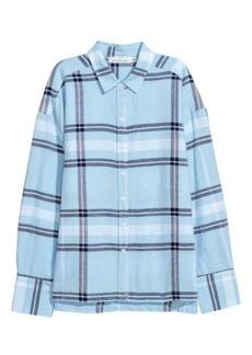 H&M H & M - Linen-blend Shirt - Blue