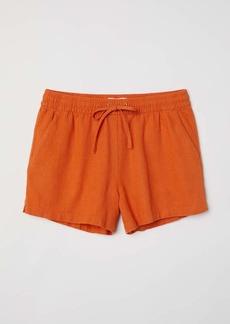 H&M H & M - Linen-blend Shorts - Orange - Women