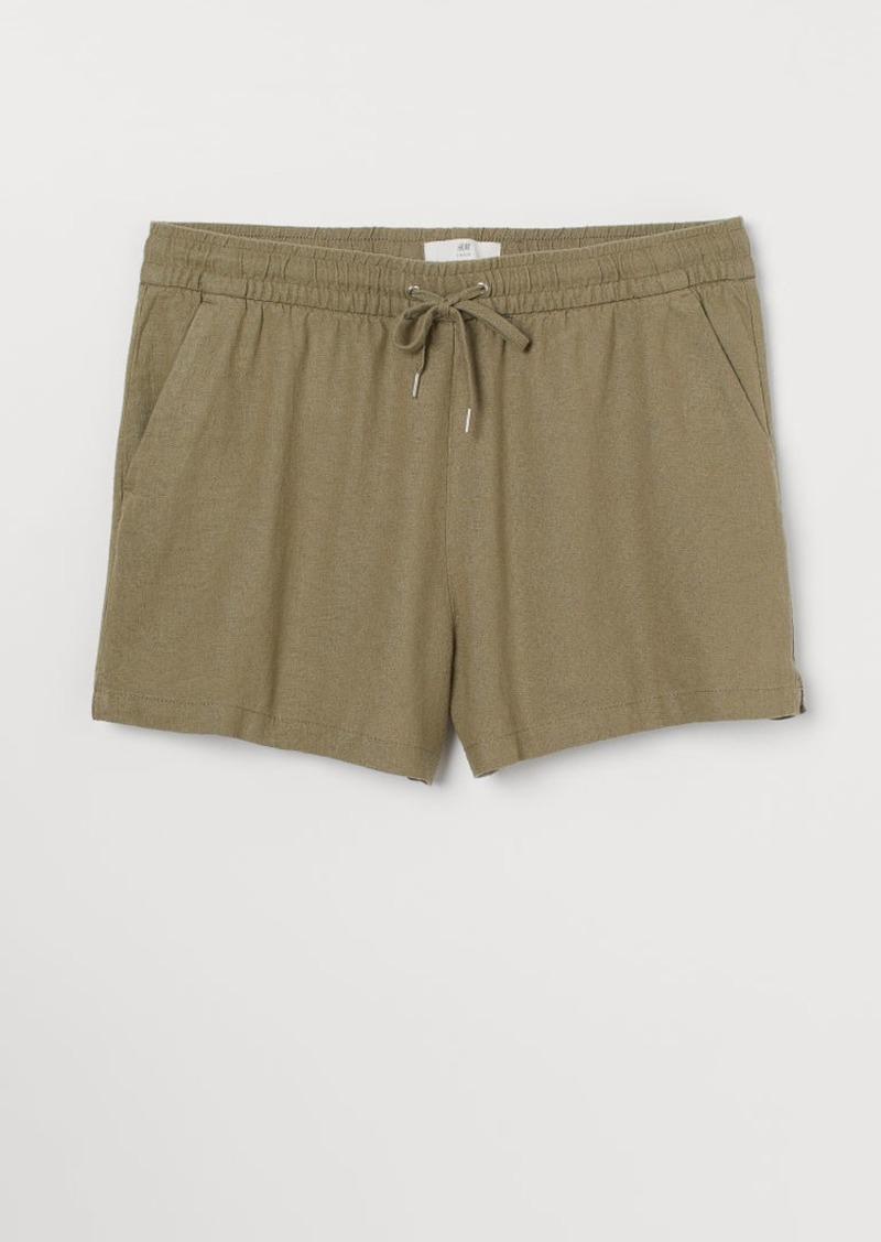 H&M H & M - Linen-blend Shorts - Green