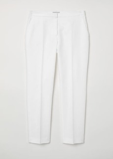 H&M H & M - Linen-blend Suit Pants - White