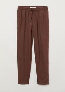 H&M H & M - Linen Joggers - Brown