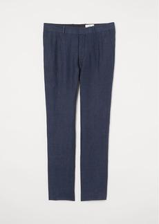 H&M H & M - Linen Pants - Blue
