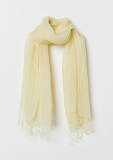 H&M H & M - Linen Scarf - Yellow