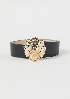 H&M H & M - Lion-buckle Waist Belt - Black
